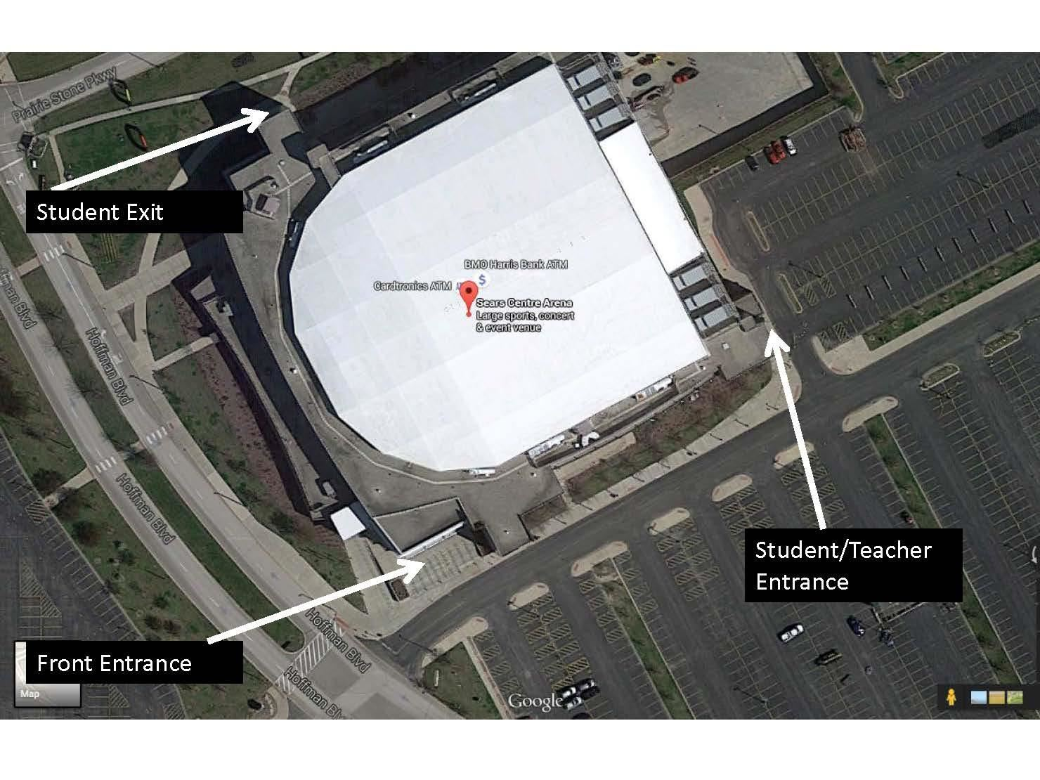 Sears Centre Satellite Map