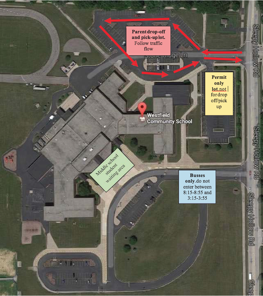 Westfield Community School Pick-Up and Drop-Off Procedures