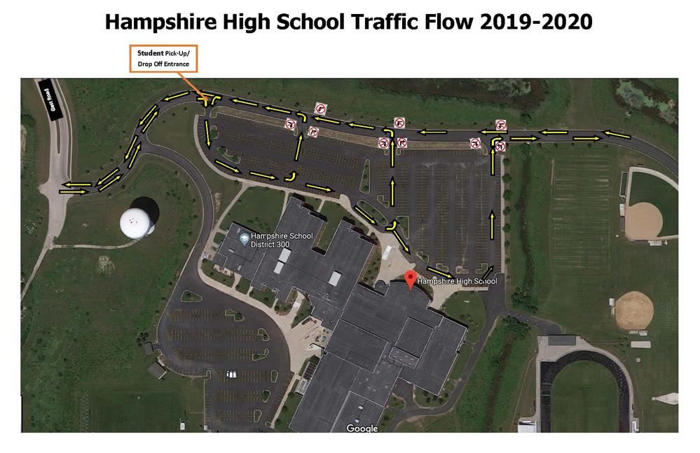 Hampshire High School's Pick-Up and Drop-Off Procedures