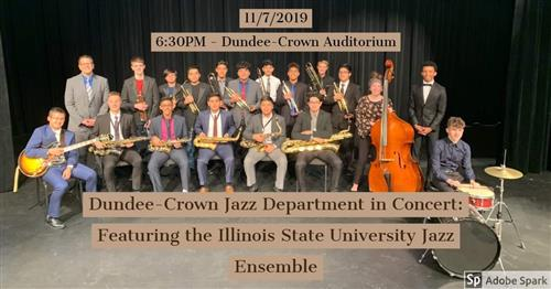 DUNDEE-CROWN JAZZ ENSEMBLE WINS GRAND CHAMPION AT ILLINOIS STATE JAZZ FESTIVAL