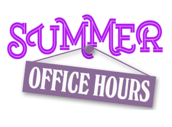 Summer Break - Office Hours