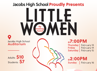 HDJ Proudly Presents Little Women. For show and ticket information click on the image.