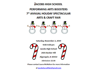 7th Annual Holiday Spectacular Arts & Crafts Fair November 2   9 am - 4 pm