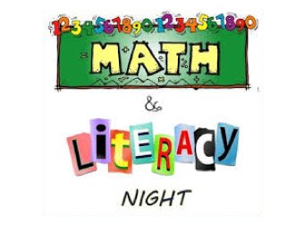 Book Fair/ Math & Literacy Night on Friday, October 4th from 5-8 pm.