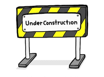 Summer Construction, Back in our building starting Wednesday, July 1st, 2020.