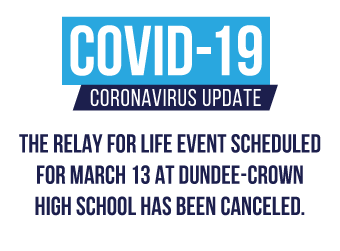 Event Cancellation: Relay for Life at Dundee-Crown