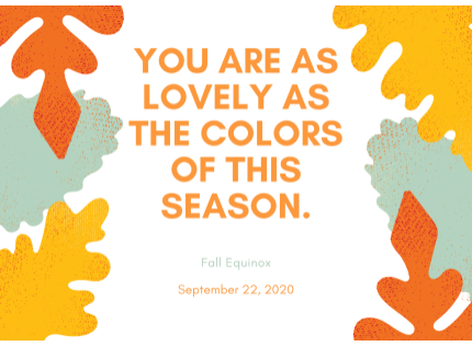 Happy First Day of Fall Liberty Stars! Click on the photo for 14 fun ideas on how you  can celebrate the Autumn Equinox.  ¡Feliz Equinoccio de Otoño Estrellas de Liberty!