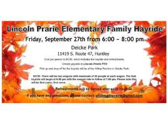 LPES Family Hayride - Sept. 27th