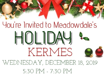 Holiday Kermes / Wednesday, December 18th  / 5:30 - 7:30PM