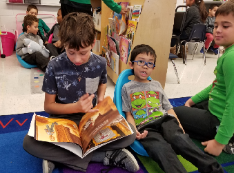 Kinder and Fifth Grade Reading Buddies