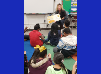 Third Grade Students Earn a Visit from a Mystery Reader