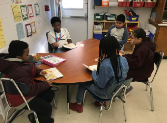 5th Grader Teaches Reading to Other Students