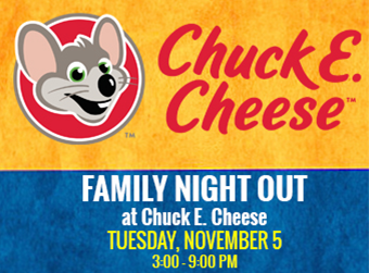 Chuck E Cheese Family Night