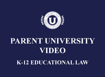 Video Available: D300 University on Educational Law