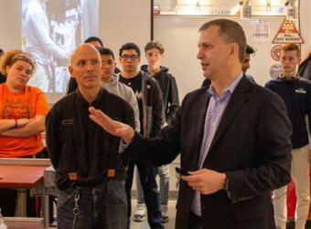 U.S. Rep. Sean Casten visits Dundee-Crown to Meet with Electrical Technology Pathway Students