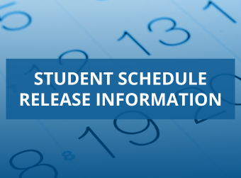 Student Schedule Release Information