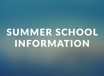 Dates Announced for Summer School 2020