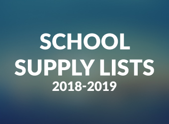 School Supply Lists: 2018-2019